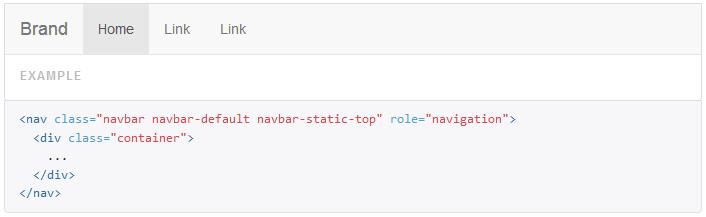 bootstrap navbar example