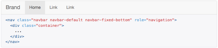 fixed footer bootstrap