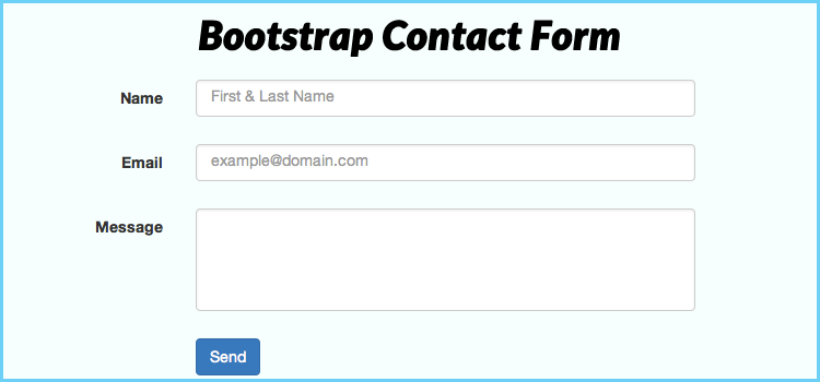 Bootstrap Contact Form